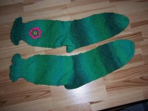 Socke mit Blume