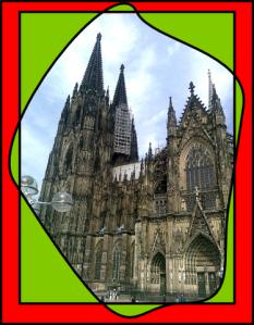 """ein von der Seite aufgenommenes """"Ich war da""""-Foto vom Kölner Dom"""
