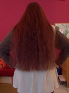 Haarlängenfoto