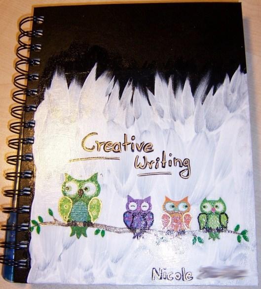 fertig dekoriertes Notizbuch